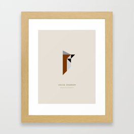 House Sparrow Framed Art Print