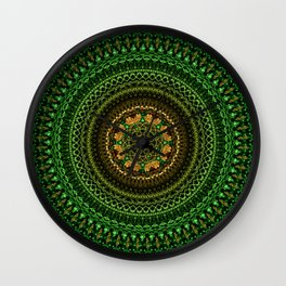 Forest Eye Mandala Wall Clock