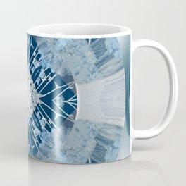 Microchip Mandala in Blue Coffee Mug
