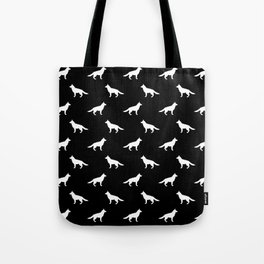 German Shepherd silhouette black and white minimal dog breed pattern dogs dog art Tote Bag