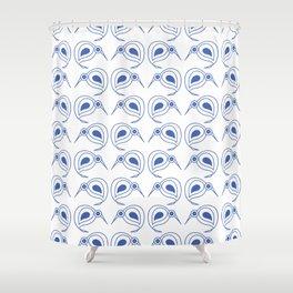 Cornflower blue kiwis Shower Curtain