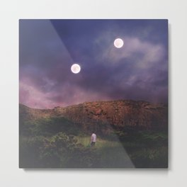 Binary Moons Metal Print