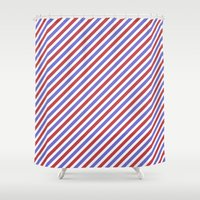hong kong Shower Curtains featuring Hong Kong Style 2 by HK Chik