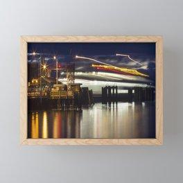 Ferry Arrives Framed Mini Art Print