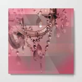 Sparkly Beads on a Chandelier Metal Print