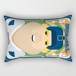 Baseball Blue Pinstripes - Rhubarb Pitchbatter - Sven version Rectangular Pillow