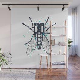 Cartridgebug of Mixing on Turntable Wall Mural