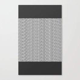 Numbers 0 to 9 Canvas Print