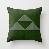 triforce Throw Pillows featuring Triforce by katsunogi