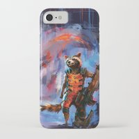 rocket raccoon iPhone & iPod Cases featuring Rocket by Wisesnail
