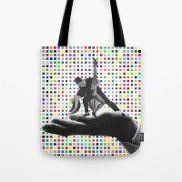 dancing Tote Bags featuring Dancing by Cs025