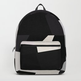 Mid Century Modern Geometry 1 black grey beige Backpack
