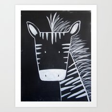 No. 0013 - Modern Kids and Nursery Art - The Zebra Art Print