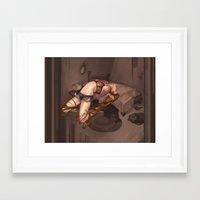 cardinal Framed Art Prints featuring Cardinal by Cassie Wolfe