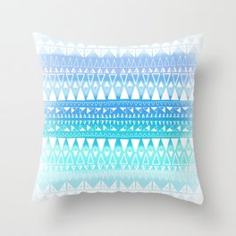 Triangle Gradient Aqua Mix Throw Pillow