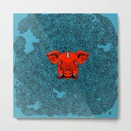 Mutant Pig Unicorn Metal Print