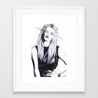 sky ferreira Framed Art Prints featuring Sky Ferreira Lashes by Asquared2Art