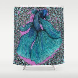 Pop Fish Shower Curtain