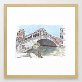 Rialto, Venice Framed Art Print