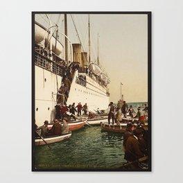 Boarding the Ship - vintage photograph Canvas Print