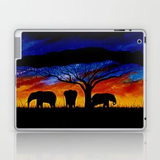 Sunset Elephants Laptop & iPad Skin