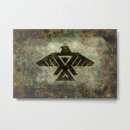 Thunderbird flag - Vintage grunge version Metal Print