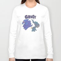 gengar Long Sleeve T-shirts featuring PRESS START-  Gengar and Banette by Dampho