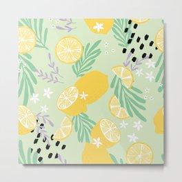 Lemon Pattern 04 Metal Print