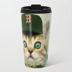 Baseball Cat Travel Mug