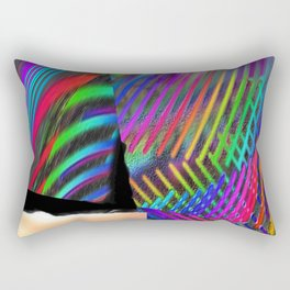 Rainbow Strate Rectangular Pillow