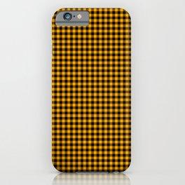 Mini Orange and Black Cowboy Buffalo Check iPhone Case