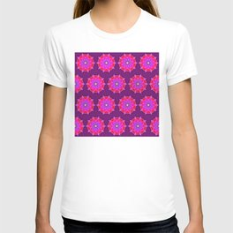 Pink Purple Floral Pillow Cushions T-shirt