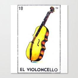 El Violoncello Mexican Loteria Bingo Card Canvas Print