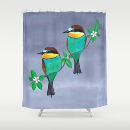 Two bee eaters Shower Curtain