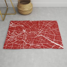 Berlin, Germany, City Map - Red Rug