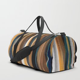 Brush Strokes on a Black Background Duffle Bag