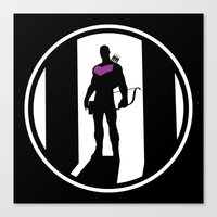 clint barton Canvas Prints featuring Clint Barton by Comix