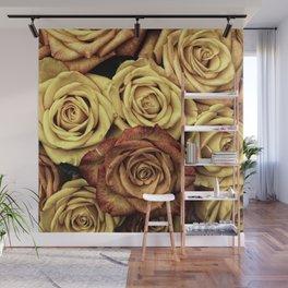 Vintage Roses Wall Mural