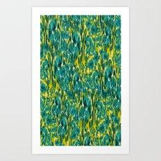 Ikat Floral Art Print