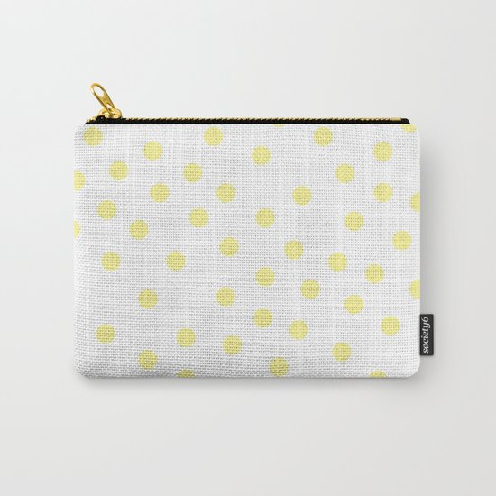 Simply Dots in Pastel Yellow Carry-All Pouch
