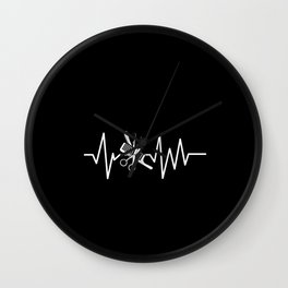 Barber Shop - Barber Scissors Comb Heartbeat Wall Clock
