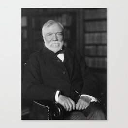 Andrew Carnegie Seated In A Library Canvas Print