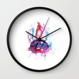Blowing smoke Wall Clock