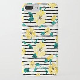 Happy flowers Stripe iPhone Case