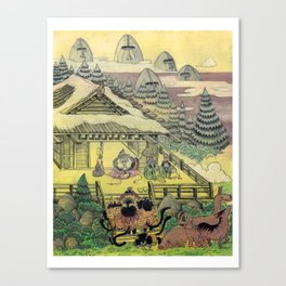 Mu Guai and the Tiger's Eye, Panel 1 Canvas Print