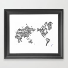 Passport Stamp Map 1 Framed Art Print