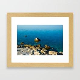 calm sea at the shore Framed Art Print