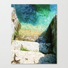 le scale verso il lago Canvas Print