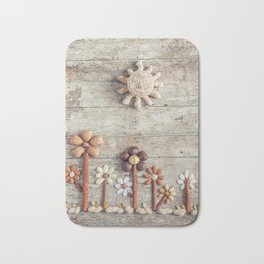 Dried fruits arranged forming flowers (3) Bath Mat