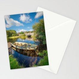 Boat At Padarn Lake Llanberis Stationery Cards